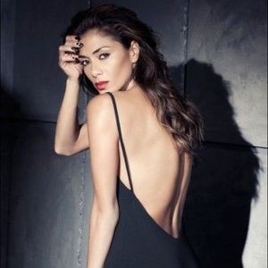 Nicole X Missguided Low Back Strappy Midi Dress